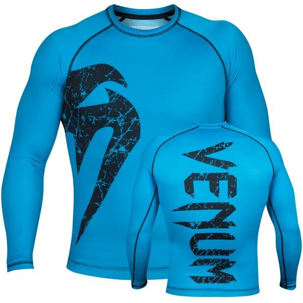 Рашгард с длинным рукавом Venum Original Giant Rasguard - Long Sleeves - Cyan/Black
